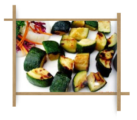 Frozen Grilled Fan Cut Zucchini